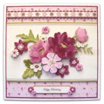 BeYOUtiful Pink Flowers Duo Card Front & Insert - version 1 - 1