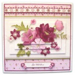 BeYOUtiful Pink Flowers Duo Card Front & Insert - version 2 - 1
