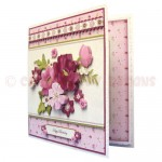 BeYOUtiful Pink Flowers Duo Card Front & Insert - version 1 - 2