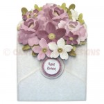 Flower Filled Envelope Shaped Fold Card - view 1