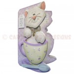 Teacup Kitty Shaped Fold Card - view 2