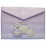 Teacup Kitty Shaped Fold Card - envelope back