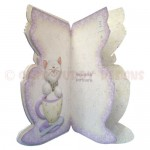 Teacup Kitty Shaped Fold Card - inside view