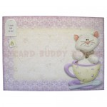 Teacup Kitty Shaped Fold Card - envelope front