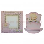Rock-A-Bye Baby Girl Stand Up Rocker Card - finished set