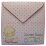 Rock-A-Bye Baby Girl Stand Up Rocker Card - envelope back