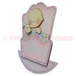 Rock-A-Bye Baby Girl Stand Up Rocker Card - side view