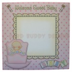 Rock-A-Bye Baby Girl Stand Up Rocker Card - envelope front