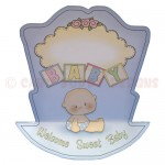 Rock-A-Bye Baby Boy Stand Up Rocker Card - back view