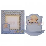 Rock-A-Bye Baby Boy Stand Up Rocker Card - finished set