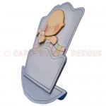 Rock-A-Bye Baby Boy Stand Up Rocker Card - side view