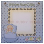 Rock-A-Bye Baby Boy Stand Up Rocker Card - envelope front