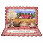 Kentish Oast Houses Scalloped Easel Card - view 1