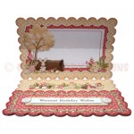 Kentish Oast Houses Scalloped Easel Card - inside view