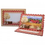 Kentish Oast Houses Scalloped Easel Card - finished set