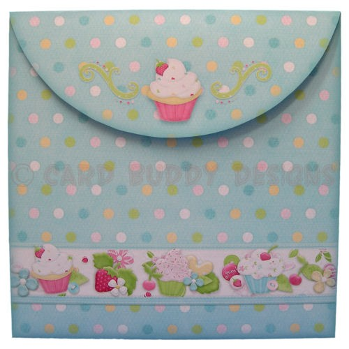 My Little Cupcake Round Easel Card - envelope back