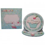 My Little Cupcake Round Easel Card - finished set