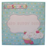 My Little Cupcake Round Easel Card - envelope front