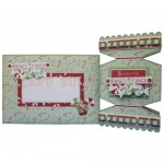Sweet Tidings Cracker Shaped Fold Card - finished set