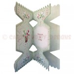 Sweet Tidings Cracker Shaped Fold Card - inside view