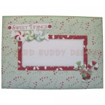 Sweet Tidings Cracker Shaped Fold Card - envelope front