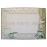 Coffee Time Over The Top Easel Card - envelope front