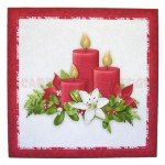 Christmas Candles Place Setting Set - coaster