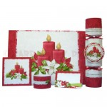 Christmas Candles Place Setting Set - finished set