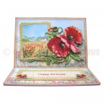 Poppy Meadow Easel Card - view 1