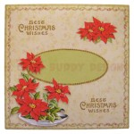 Bowl of Poinsettias Shaped Fold Card - envelope front