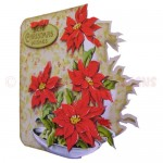 Bowl of Poinsettias Shaped Fold Card - view 2