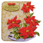 Bowl of Poinsettias Shaped Fold Card - view 1