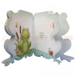 Toadily Cute Shaped Fold Card - inside view