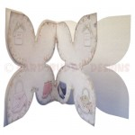 Shoes with Bags of Style Quad Petal Shaped Fold Card - inside