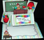 An Apple For The Teacher Box Card Kit With matching Envelope