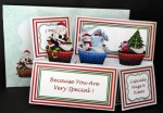 Christmas Cupcakes Pop-Up Box Card Kit & Matching Envelope
