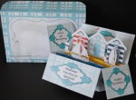Beach Huts & Sailing Boat Pop Up Box Card Kit & Envelope