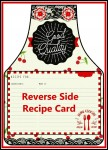 Farmer's Market Apron Recipe Card Booklet with Directions