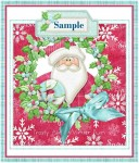 Santa and Company Tabbed Gift Tags or Toppers