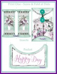 Happy Sewing Day Arched Pocket Card with 2 Inserts