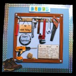 D.I.Y. Tools For Men - Decoupage Easel Card Kit With Envelope