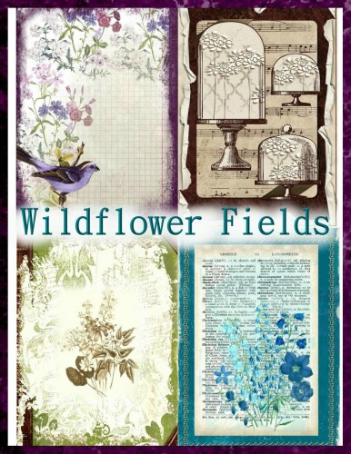 Wildflower Fields Mini Book Kit with 21 Printable Files
