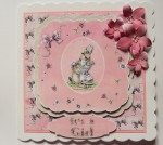Baby Girl Bunny Card Example 2