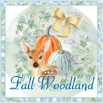 Fall Woodland Handled Gift Tote with Tag and Directions