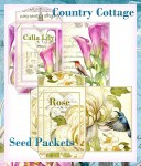 Country Cottage Seed Packets Envelope Set