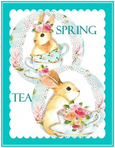 FREE Spring Tea Teabag Envelopes and Insert Greetings