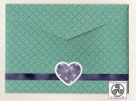 All of My Heart Asymmetric Decoupage Card Envelope Back