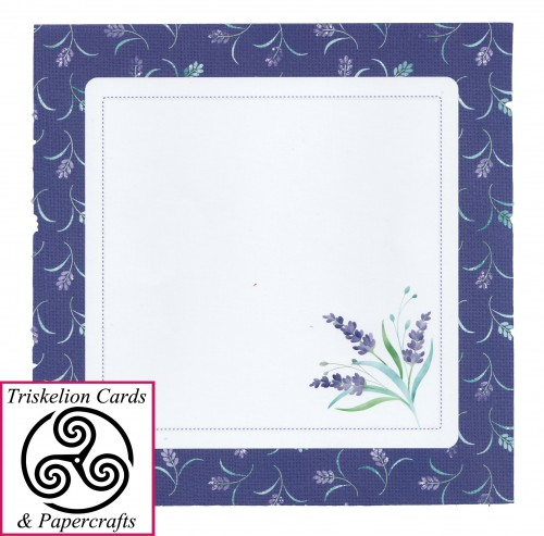 French Lavender Rounded Corner Decoupage Card Envelope Front