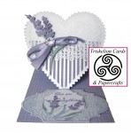 Lavender and Lace Heart Shaped Easel Card