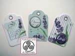 Follow Your Heart Scalloped Edge Card Tags